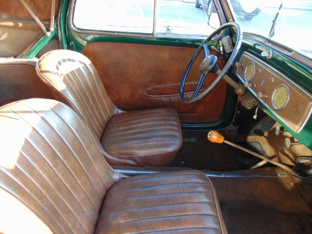 1954 fiat 500 c topolino convertible dark green with brown interior superb car classic fiat. Black Bedroom Furniture Sets. Home Design Ideas