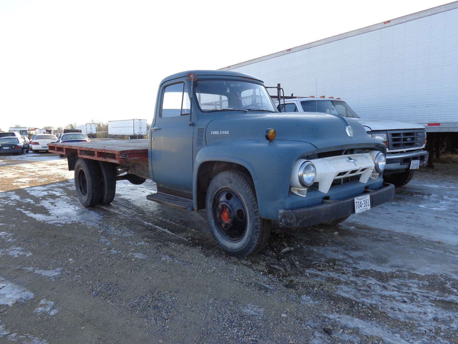 1954 Ford F 500 2 Ton Flatbed Truck Vintage Clean Commercial F100 550