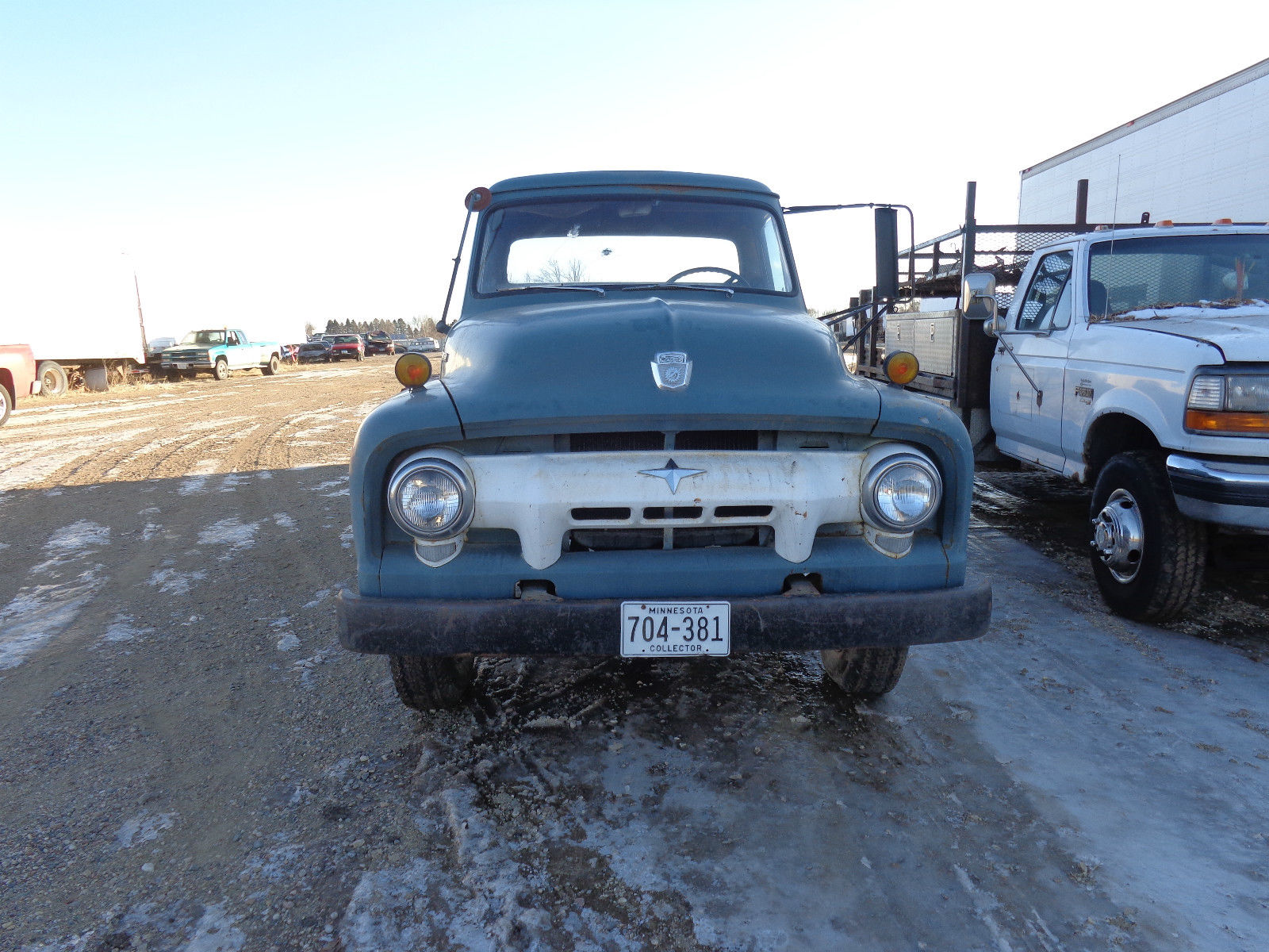 Ford f 500 2 ton flatbed truck vintage clean commercial barn find