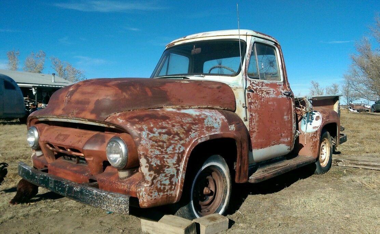 1954 Ford F100 1 2 Half Ton Pickup Shop Truck Hot Rat Rod