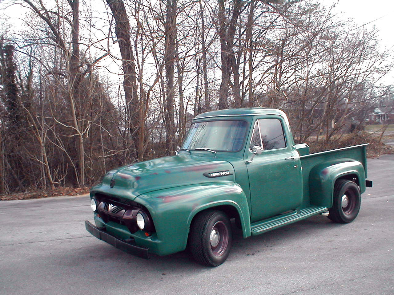 1954 Ford F100 V8 Shop Truck Patina Or Resto Mod Well Done Driver Long Bed F 100