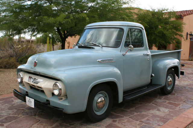 1954 Ford F100 Waterfall Blue Original Amp Un Restored