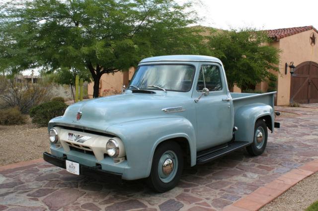 1954 Ford F100, Waterfall Blue, Original & Un-Restored ...