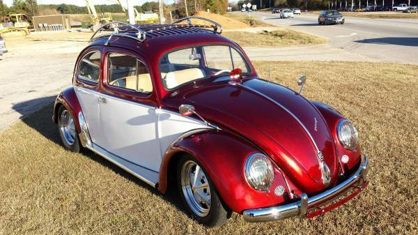1954 MATCHING NUMBERS VW OVAL WINDOW BUG CANDY APPLE RED/PEARL WHITE RESTORED - Classic ...