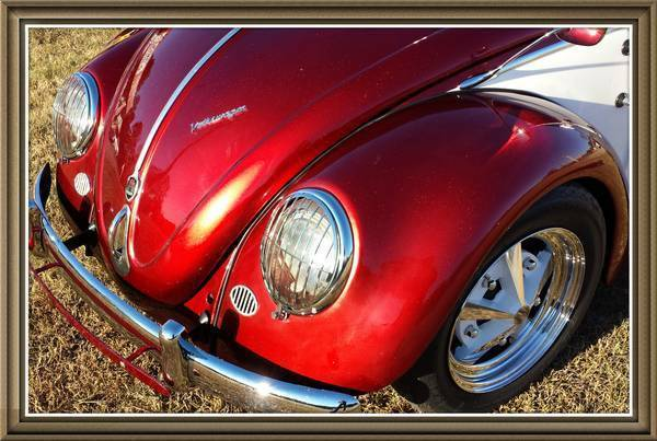 matching numbers vw oval window bug candy apple redpearl white restored classic