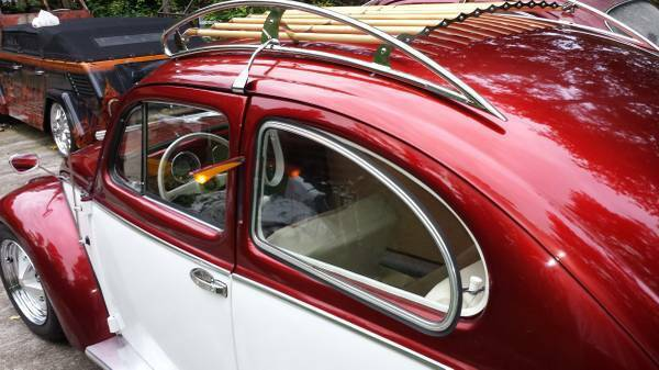 Matching Numbers Vw Oval Window Bug Candy Apple Redpearl White Restored