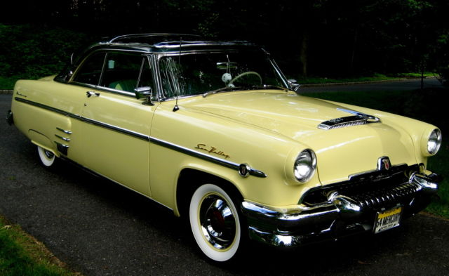 1954 Mercury Sunvalley 2dr Hardtop Yellow Glass Roof V 8