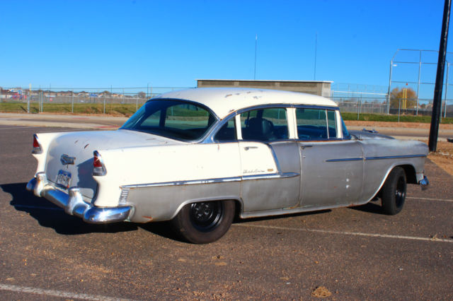 1955 55 chevrolet chevy belair 4 door fuel injected 4 8l for 1955 chevy bel air 4 door