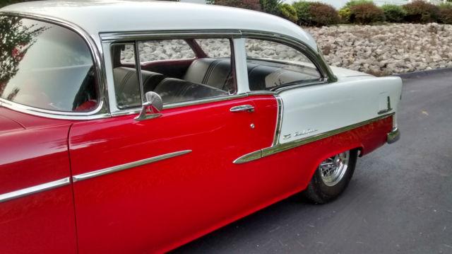 1955 Chevrolet 210 Bel Air 2 Door Sedan Nice Red / White ...