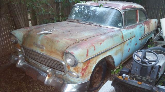 1955 Chevrolet Belair 2 Door Sedan Post 55 Chevy Barn Find