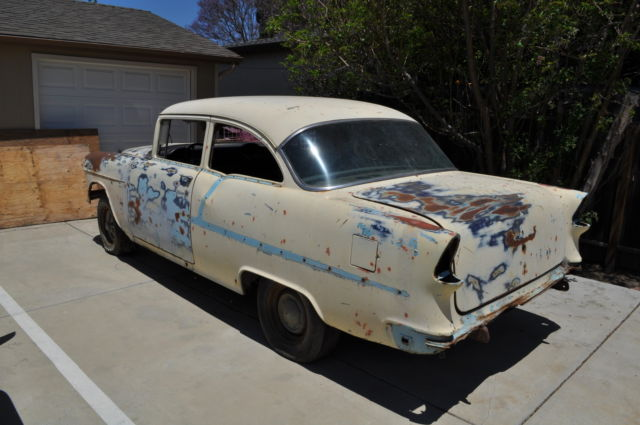 1955 chevrolet chevy two door sedan project clear title classic chevrolet bel air 150 210 1955. Black Bedroom Furniture Sets. Home Design Ideas