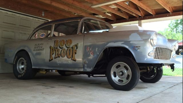 1955 Chevrolet Drag Car Chevy Gasser Dragster Race Rat Rod