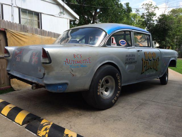 1955 Chevrolet Drag Car Chevy Gasser Dragster Race Rat Rod