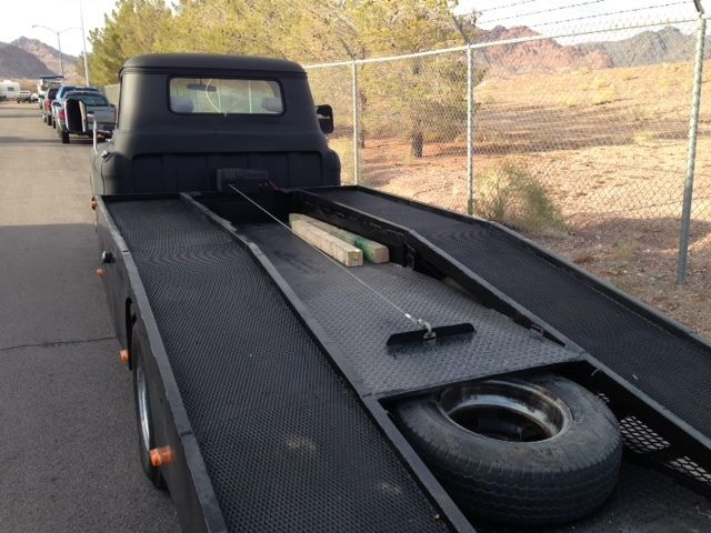 1955 Chevrolet Flat Bed Car Hauler Coe Rat Rod Hot Rod