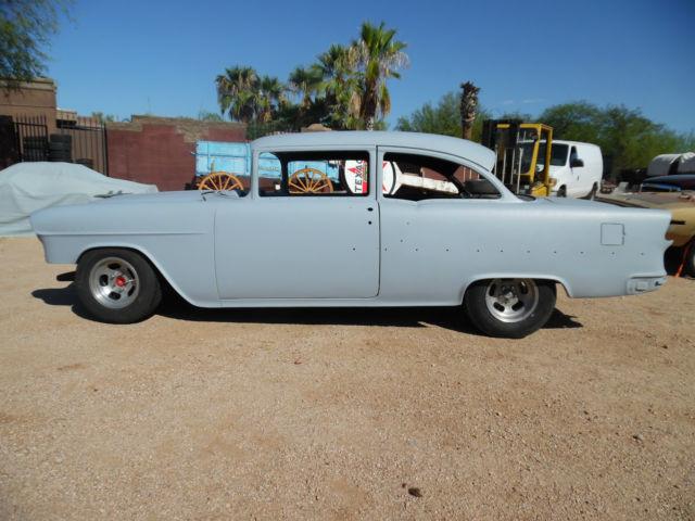 1955 chevy 2 door 210 post very solid project roller for 1955 chevy two door