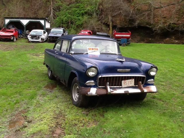 1955 Chevy 2 Door Post NO RESERVE - Classic Chevrolet Bel