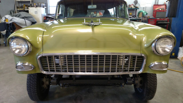 1955 Chevy 2dr Station Wagon Gasser Hot Rod Classic