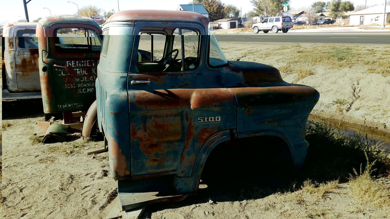 1955 Chevy 5100 2 Ton Truck Cab Almost Complete With Title 1942 Patina