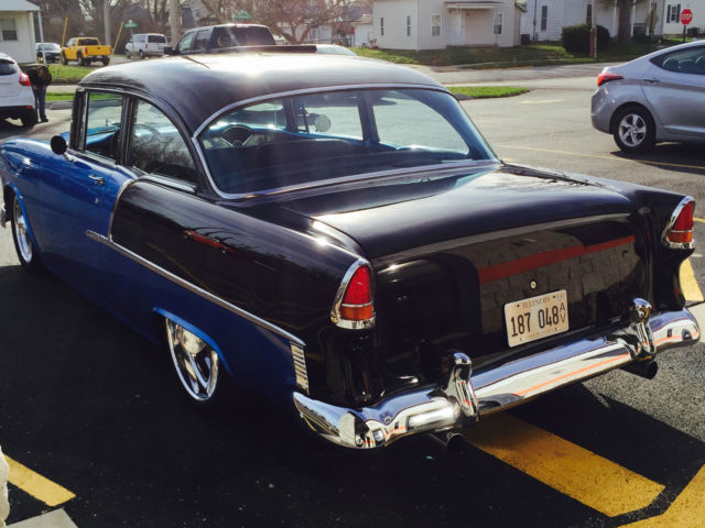 1955 chevy 55 chevrolet belair hardtop 2 door sedan post for 1955 chevy 2 door sedan