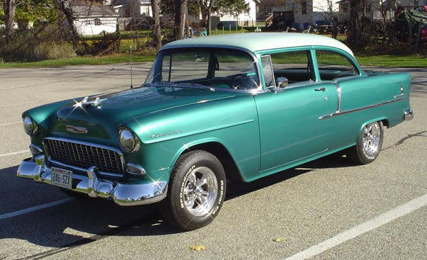 1955 Chevy Bel Air 2 Door Post Car - Sea Mist Green - Fresh