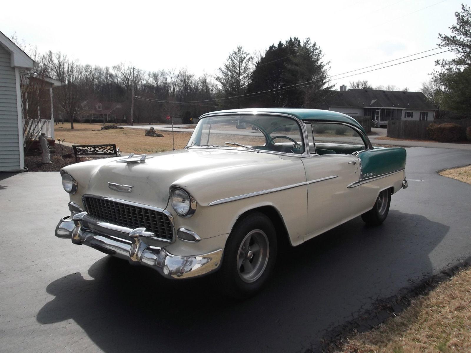 1955 chevy bel air two door hardtop 58 000 original for 1955 chevy belair 2 door hardtop for sale