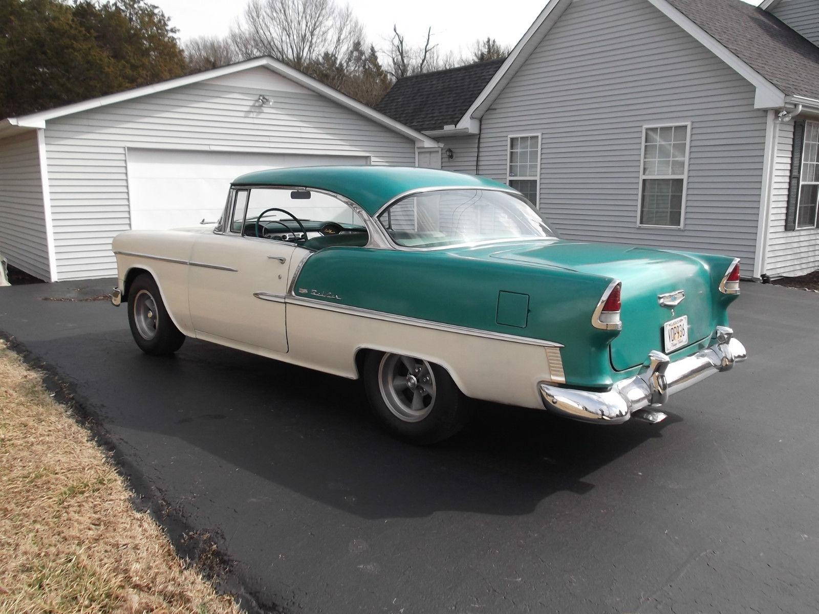 1955 chevy bel air two door hardtop 58 000 original for 1955 chevy bel air door panels