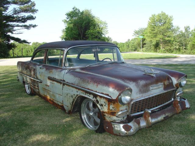 1955 Chevy Bel Air Rat Rod Barn Find Patina Original