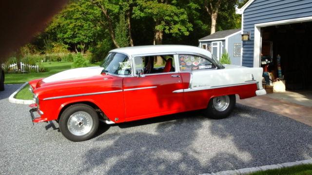 1955 chevy belair 2 door post hotrod gasser old school for 1955 chevy belair 2 door post for sale