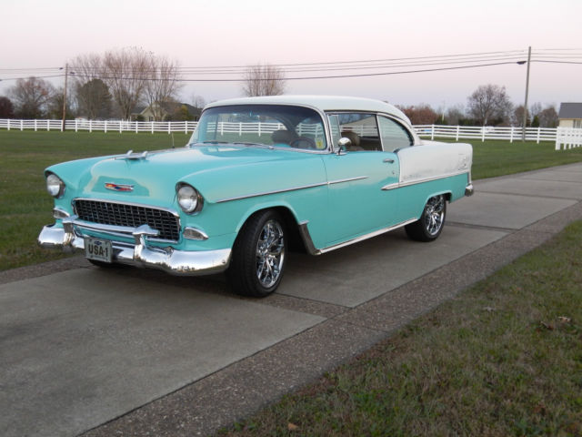 1955 chevy belair resto mod all new all custom cold a c sport coupe classic chevrolet bel air - 1955 chevrolet belair sport coupe ...