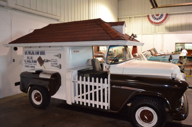 Classic Chevy Trucks For Sale >> 1955 Chevy Bungalow Bar Ice Cream Truck Solid Original no rust Rare Good Humor - Classic ...