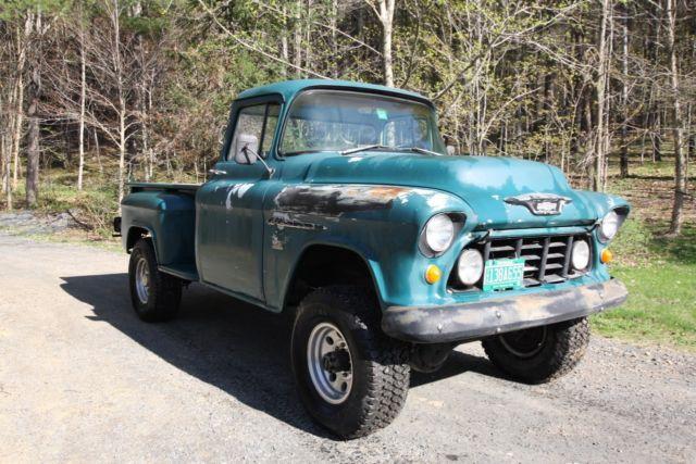 1955 Chevy Napco 3600 4x4 Second Generation 350 V8 Pickup