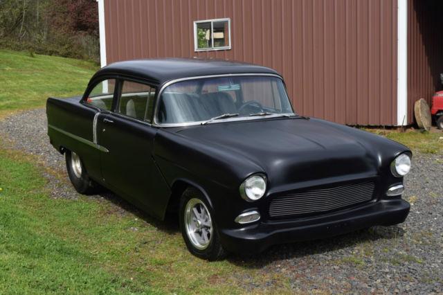 1955 Chevy Pro Street 350/350 Hot Rod Black 2 Door Post