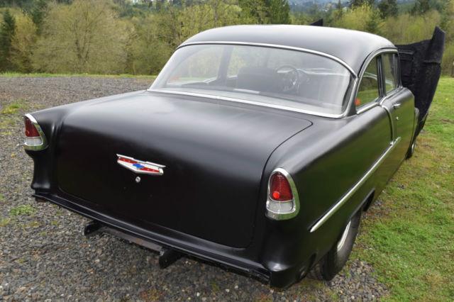 1955 Chevy Pro Street 350/350 Hot Rod Black 2 Door Post Clean Title - Classic Chevrolet Bel Air ...
