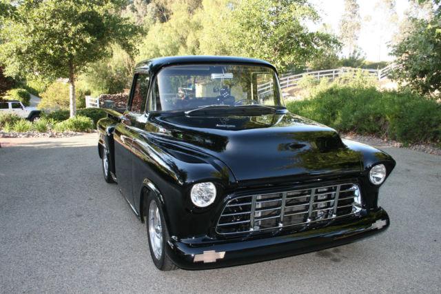 1955 chevy truck black big block big window classic for 1955 chevy big window for sale
