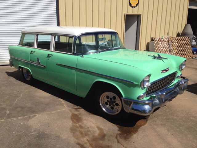1955 chevy wagon with new 350 v8 engine classic chevrolet bel air 150 210 1955 for sale. Black Bedroom Furniture Sets. Home Design Ideas