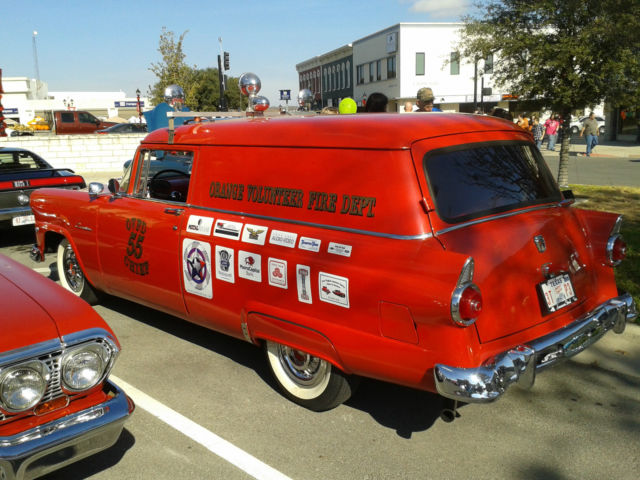 1955 ford courier sedan delivery texas fire chief 39 s car classic ford fairlane 1955 for sale. Black Bedroom Furniture Sets. Home Design Ideas
