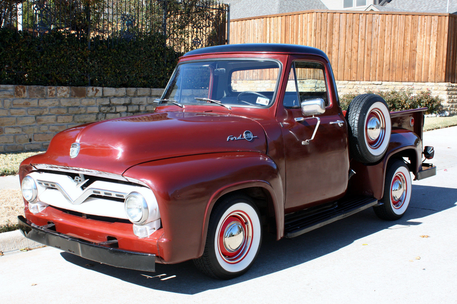 1955 Ford F 100 With A 239 Y Block And 3 Speed Column Shift F100 Show Trucks