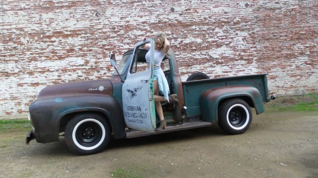 1955    ford    f100 f100 Custom Cab Patina pickup 1948 1949