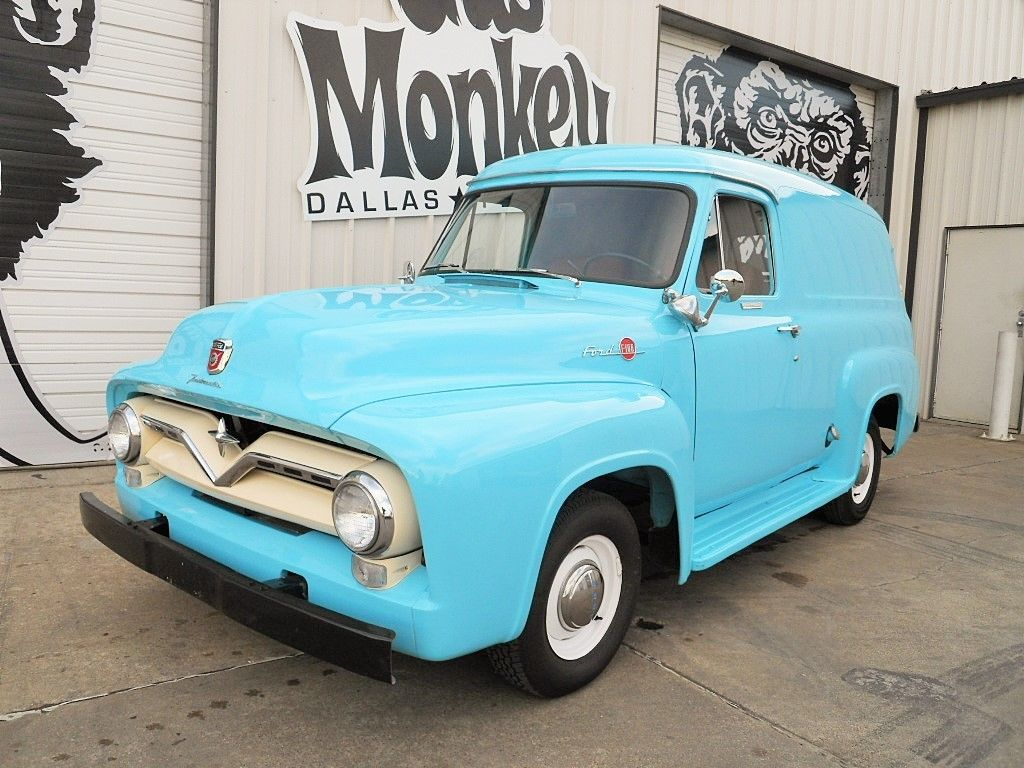 1955 Ford F100 Panel Restored To Original Condition Offered By Gas Pickup Truck For Sale F 100