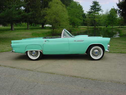 1955 ford thunderbird collector car for sale or trade classic ford thunderbird 1955 for sale. Black Bedroom Furniture Sets. Home Design Ideas