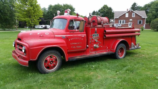 Used Cars Evansville In >> 1955 International Rat Rod Fire Truck Antique Working ...