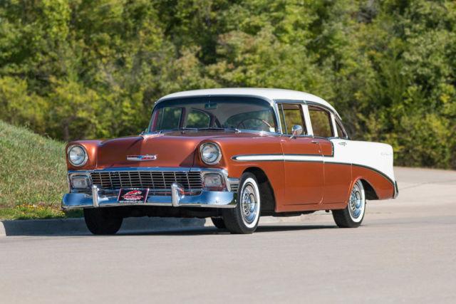 1956 chevrolet bel air 4 door sedan air conditioning power for 1956 chevy 4 door sedan