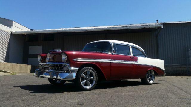 1956 chevrolet belair 2 door sedan post 4 speed and crate for 1956 belair 2 door