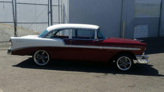 1956 chevrolet belair 2 door sedan post 4 speed and crate for 1956 chevrolet belair 4 door