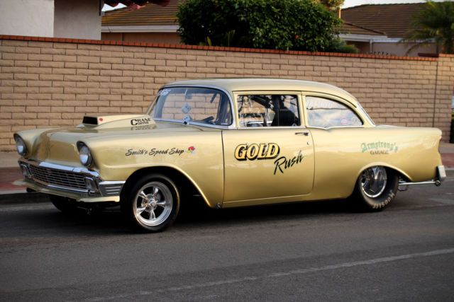 pro street hot rod   classic chevrolet bel air 150 210 1956 for sale