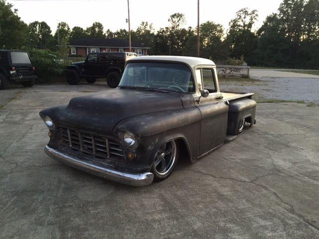 1956 chevrolet truck mild custom rat rod big back glass. Black Bedroom Furniture Sets. Home Design Ideas