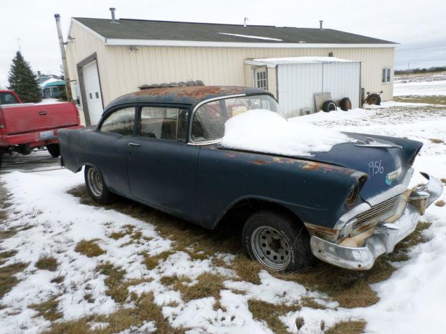 1956 Chevy 2 Door Sedan Very Solid Barn Find Project