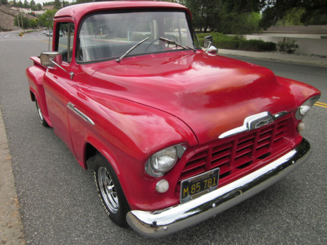 1956 Chevy 3100 Short Bed Big Window Red Patina V8 Auto