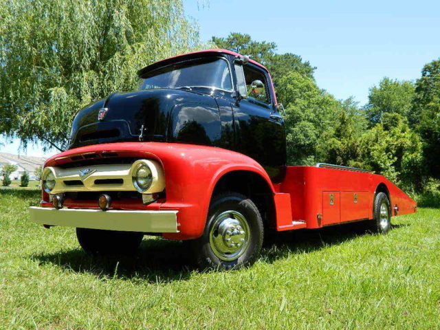 1956 ford coe car hauler tow truck classic look modern frame cab over flatbed classic ford. Black Bedroom Furniture Sets. Home Design Ideas