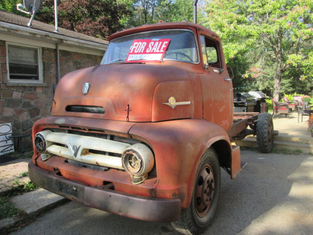 1956 Ford COE Project ramptruck custom pickup car carrier ...